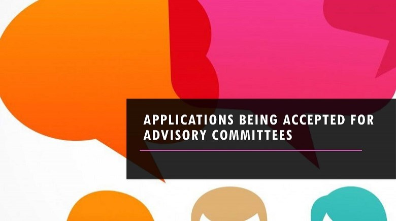 Poster for applications being accepted for advisory committees