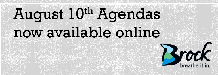 Banner for August 10th Agendas
