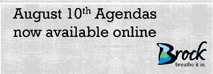 Banner for August 10th Agendas