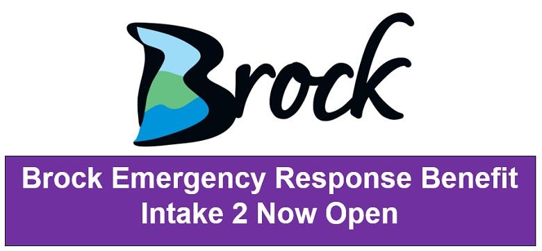 Brock Emergency Response Benefit Intake Two Open