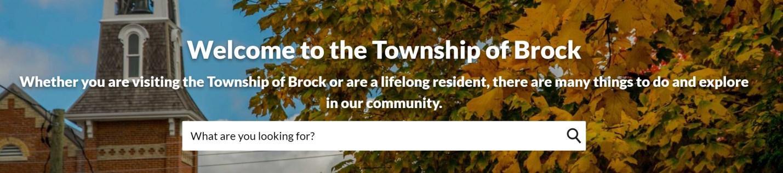 Screenshot of Township of Brock website