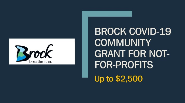 Poster for Brock COVID-19 Community Grant for Not-for-Profits