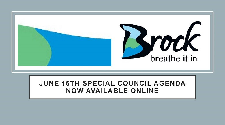 June 16th Special Council agenda available announcement