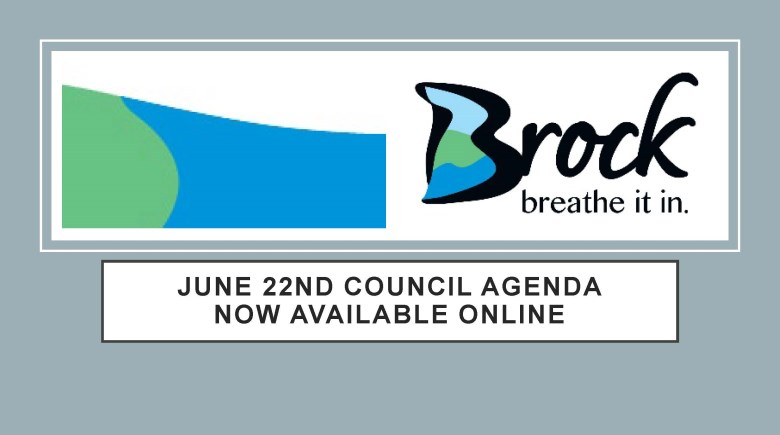 Poster announcing that June 22nd Council Agenda is now available online