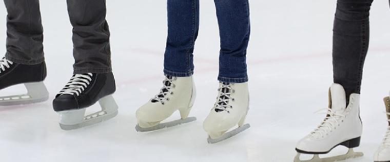 Skating in arena