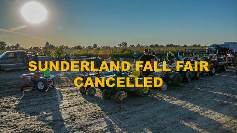 Sunderland Fall Fair Cancellation Poster