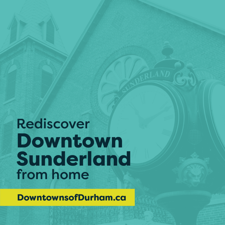 Downtowns of Durham poster featuring Sunderland
