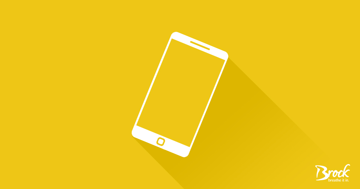 Yellow background with white cell phone