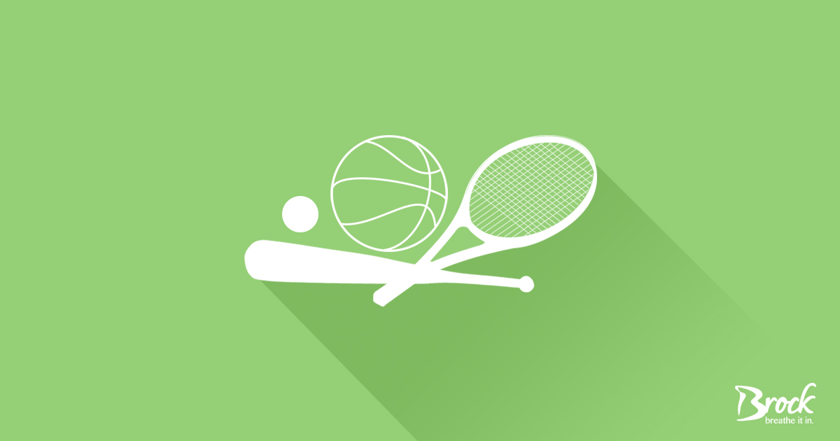 Green background with white sports equipment