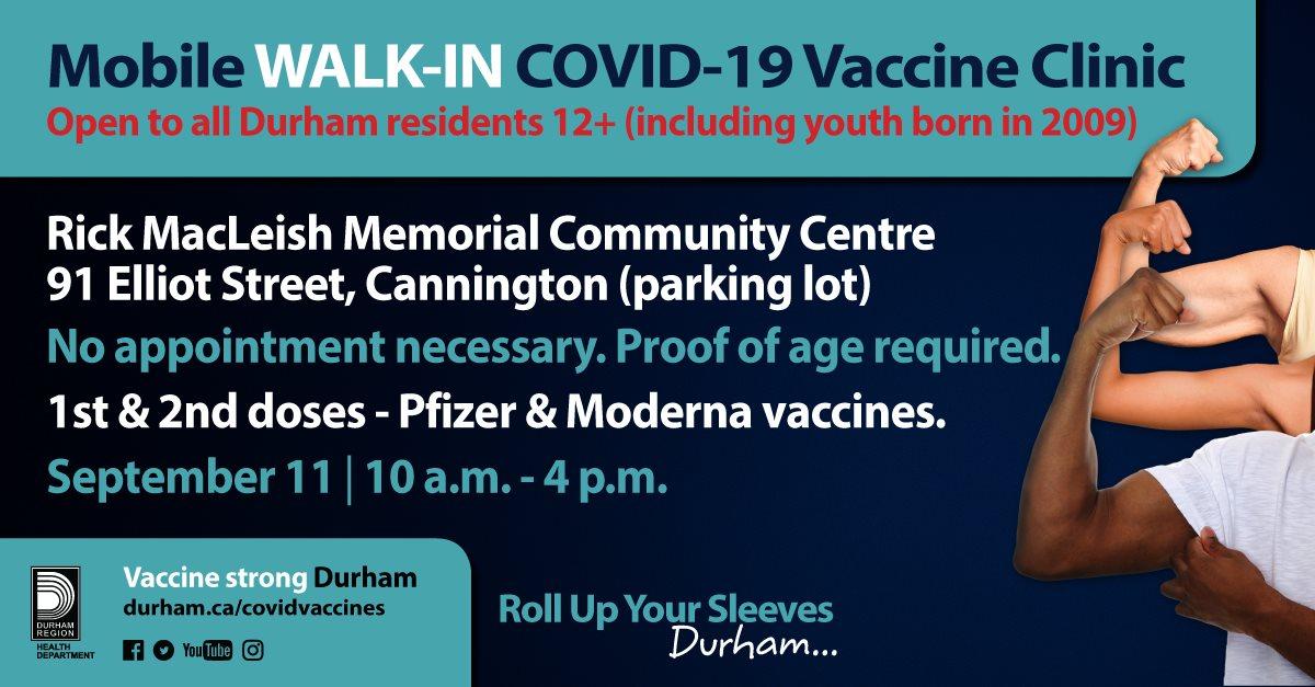 Durham Region Walk-in COVID-19 Vaccine clinic