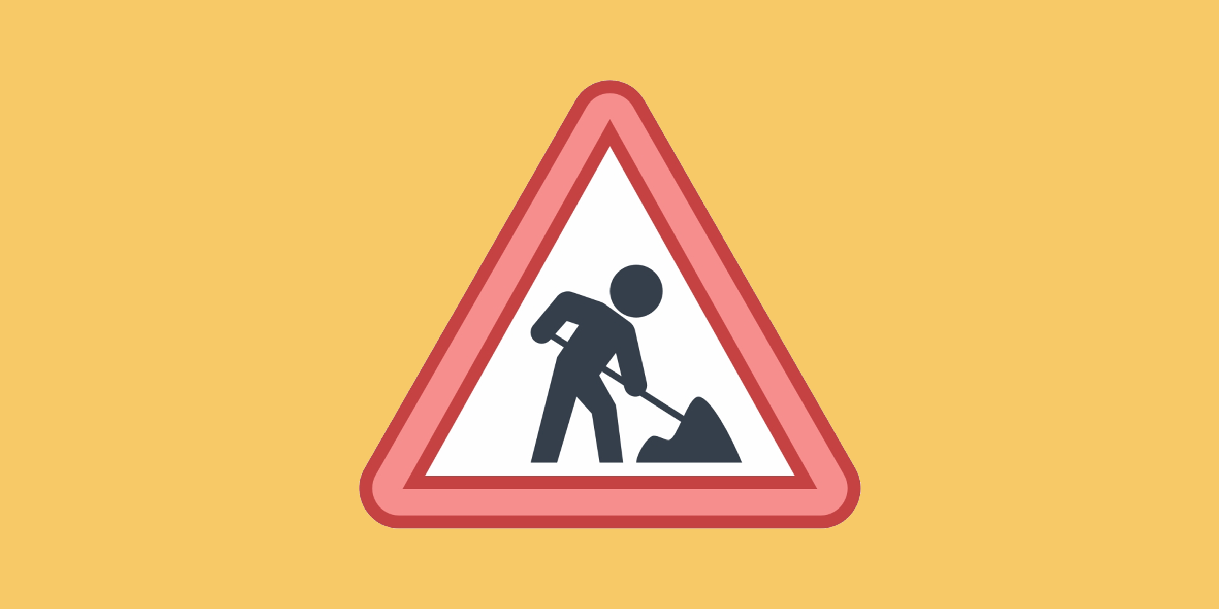 Yellow background with construction icon